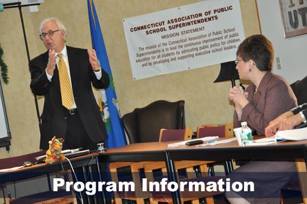 Bob Villanova instructing an ELP class. Text reads: Program Information