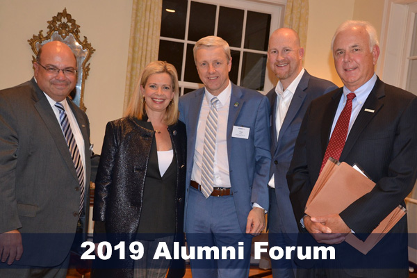 Guest speakers from the Neag Educational Leadership Alumni Forum held in October 2019