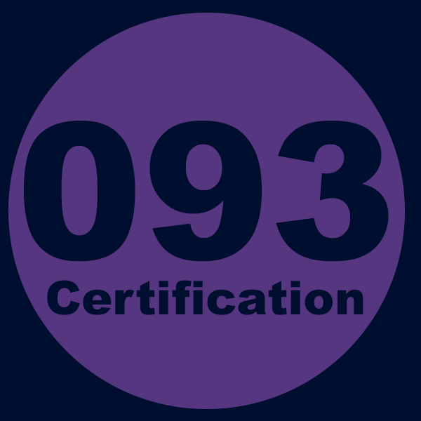 093 Certification