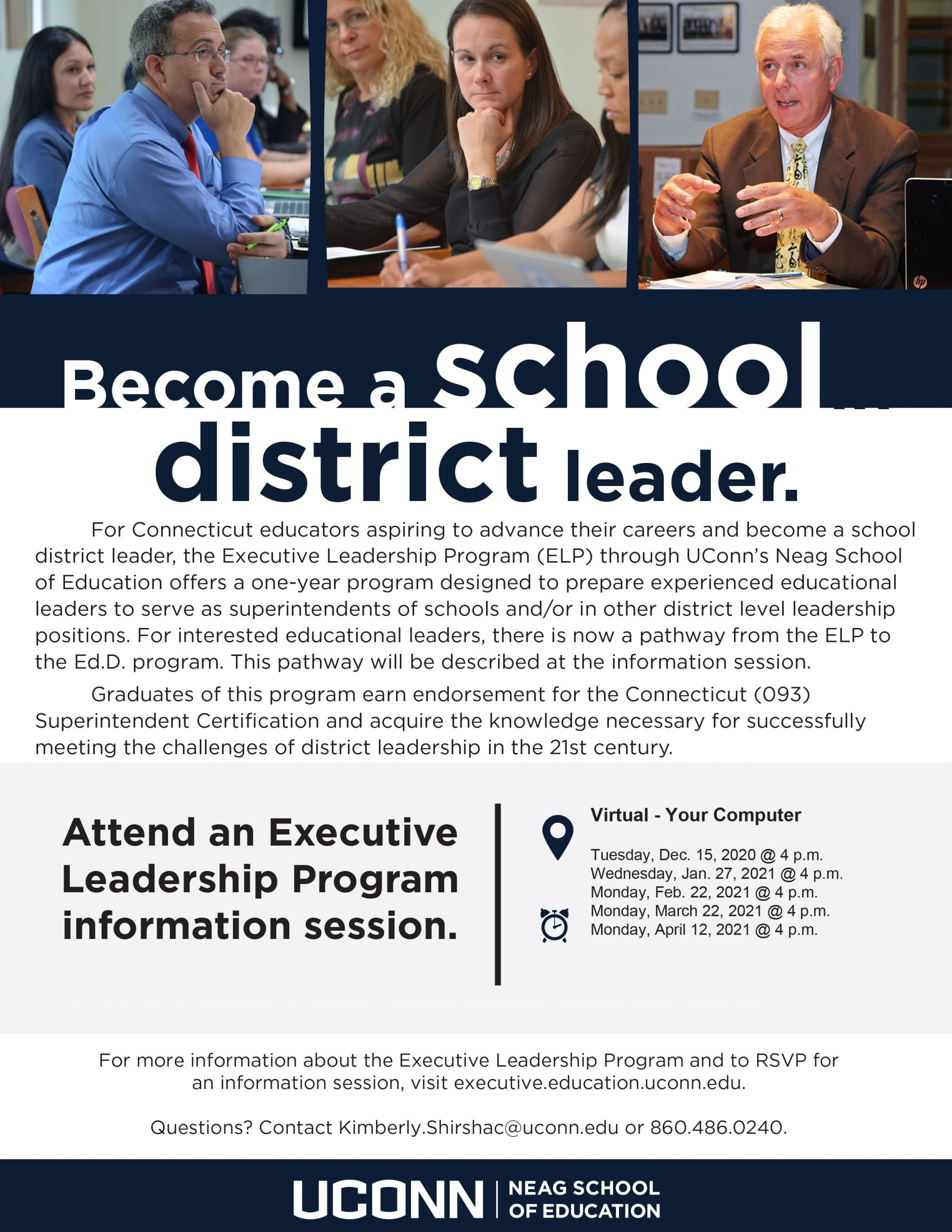 Become a school district leader flyer